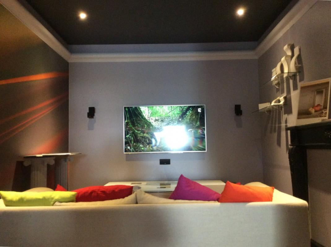 plafond tendu acoustique show room ville la grand. Black Bedroom Furniture Sets. Home Design Ideas